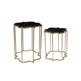 Monaco Marble Side Table Set of 2