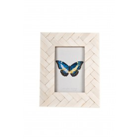 Hampton Bone Weave Photo Frame