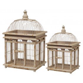Mavis Bird Cage- Set of 2
