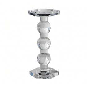 Empire Crystal Pillar Candle Holder L