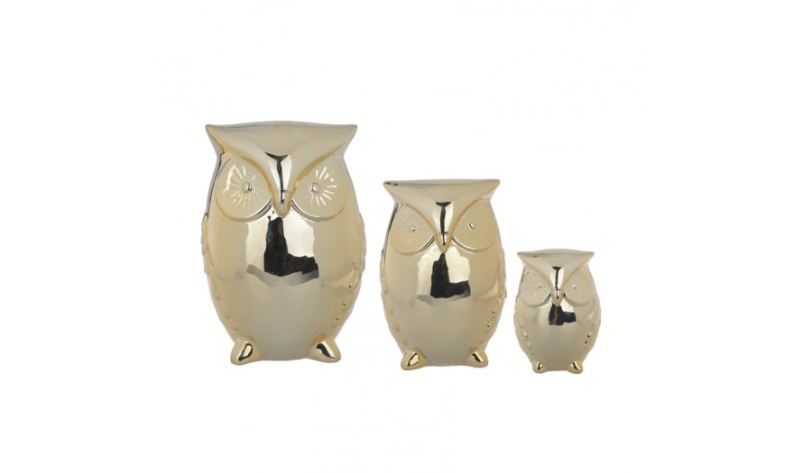 Della Decorative Owl Set of 3