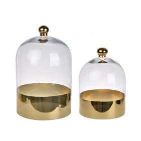Ethel Glass Dome Set of 2