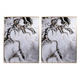 White Marble Panel - Set of 2