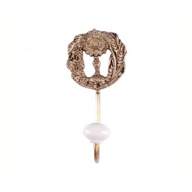 Tricia Empire Brass Wall Hook