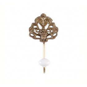 Tricia Crest Brass Wall Hook