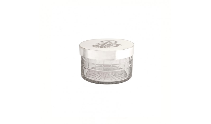 Manolo Etched Glass Trinket box