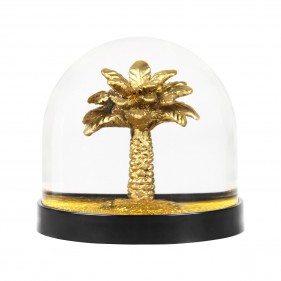 Water Globe - Palm Tree Gold Glitter
