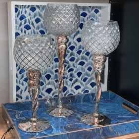 Rizzo Candle Holder - Set Of 3